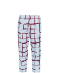 Marni Check Tapered Cotton Cropped Sweat Pants