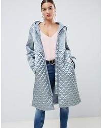 ASOS DESIGN Quilt Padded Satin Jacket