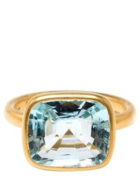 Marie Helene De Taillac 22k Yellow Gold Aquamarine Ring