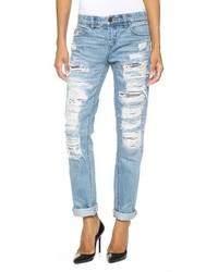 Denim distressed boyfriend jeans medium 151125