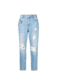 Versace Jeans Distressed Boyfriend Jeans