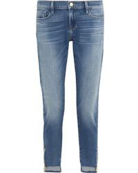 Garcon distressed mid rise slim boyfriend jeans mid denim medium 1191209