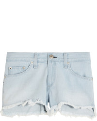 Rag & Bone Cut Off Denim Shorts Light Denim