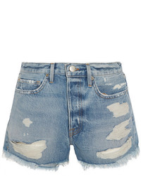 Rigid re release le original distressed denim shorts mid denim medium 1191261