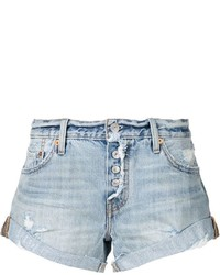 Levi's Rolled Hem Distressed Shorts