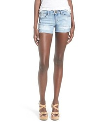 Sp Black Distressed Rolled Denim Shorts
