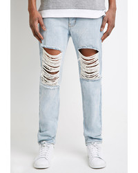 Ripped Jeans For Men Light Blue - Xtellar Jeans