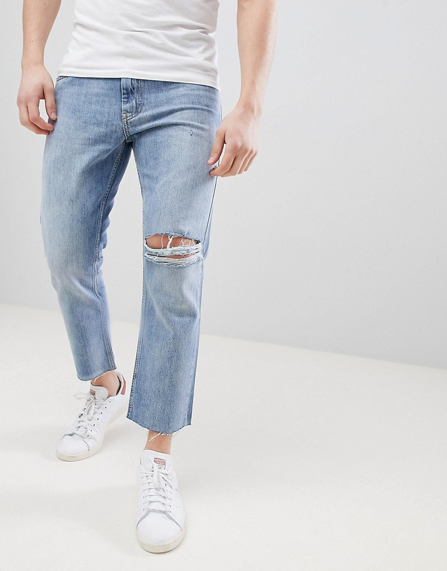 2c42e1be7d49a 90s Fit Cropped Jeans