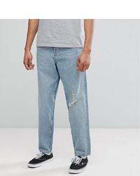 ASOS DESIGN Asos Tall Skater Jeans In Vintage Light Wash Blue