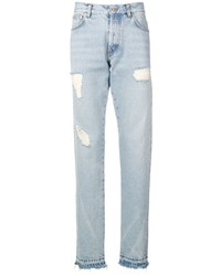 Heron Preston Distressed Detail Jeans