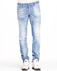 Light Blue Ripped Jeans for Men | Men's Fashion