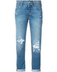 Distressed straight jeans medium 5253151