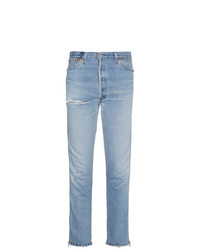 RE/DONE Mid Rise Ankle Zip Slim Jeans