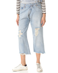 Maison Margiela Mm6 Destroyed Cropped Jeans