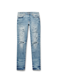 Amiri Thrasher Plus Skinny Fit Distressed Stretch Denim Jeans