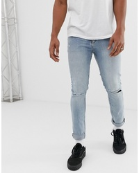 Cheap Monday Tight Jeans With Ripped Knees