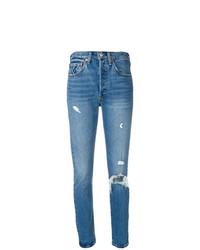 Levi's 501 Customised Skinny Jeans