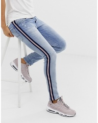 Replay Andov Ripped Power Stretch Skinny Jean With In Light Wash