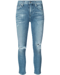 Cropped distressed skinny jeans medium 5145935