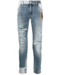Dolce & Gabbana Patchwork Dg Skinny Jeans