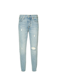 Levi's Ripped Cropped Skinny Jeans