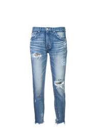 Moussy Vintage Ripped Raw Hem Jeans