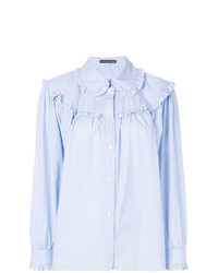 Alexa Chung Ruffled Stripe Shirt