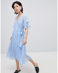 Vero Moda Wrap Dress With Asymetric Hem