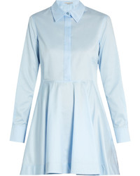 Stella McCartney Leile Point Collar Cotton Shirtdress