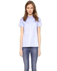 Light Blue Short Sleeve Button Down Shirt