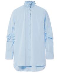 Light Blue Silk Dress Shirt