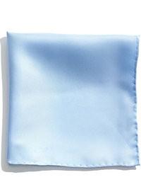 Light Blue Silk Pocket Square