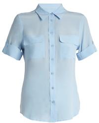 Equipment Signature Short Sleeved Silk Shirt