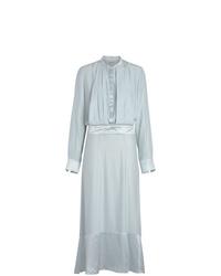 Burberry Silk Satin Shirt Dress