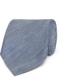 8cm slub linen and silk blend tie medium 1245733