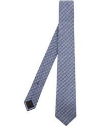 Gucci Honeycomb Jacquard Silk And Linen Blend Tie