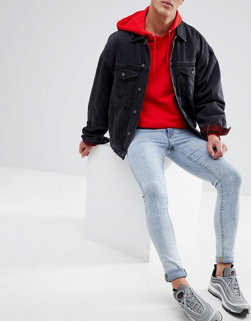 5a115826f ... Light Blue Skinny Jeans ASOS DESIGN Asos Extreme Super Skinny Jeans  With Heavy Acid Wash