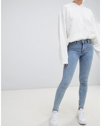 Weekday Body Super Stretch Skinny Jeans In Florida Blue