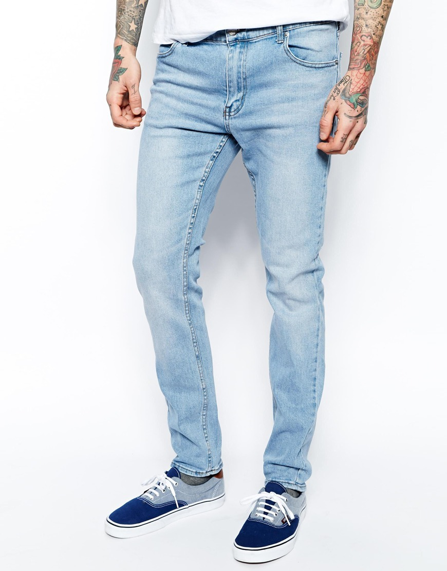 Tight Jeans Skinny Fit in Stonewash Blue - Blue Cheap Monday Fake Free Shipping Store 2018 Online 3R4r9t