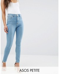 Asos Petite Petite Ridley Skinny Jeans In Anais Light Wash