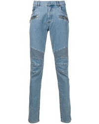 Balmain Quilted Detailed Skinny Jeans