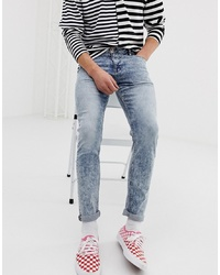 ASOS DESIGN Skinny Ankle Grazer Jeans In Acid Wash