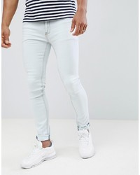 Soul Star Skinny Fit Jeans In Bleach Wash