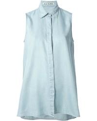 Acne Studios Ash Fluid Sleeveless Button Up Shirt