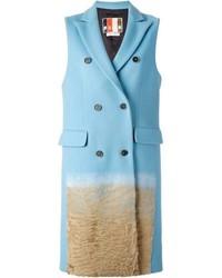 Light Blue Sleeveless Coat