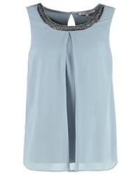 Anna Field Blouse Silver Blue