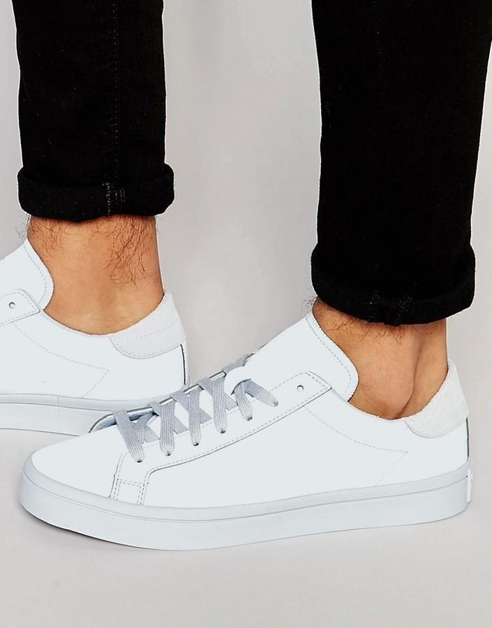 76700696296e43 ... adidas Originals Court Vantage Adicolor Sneakers In Blue S80255 ...