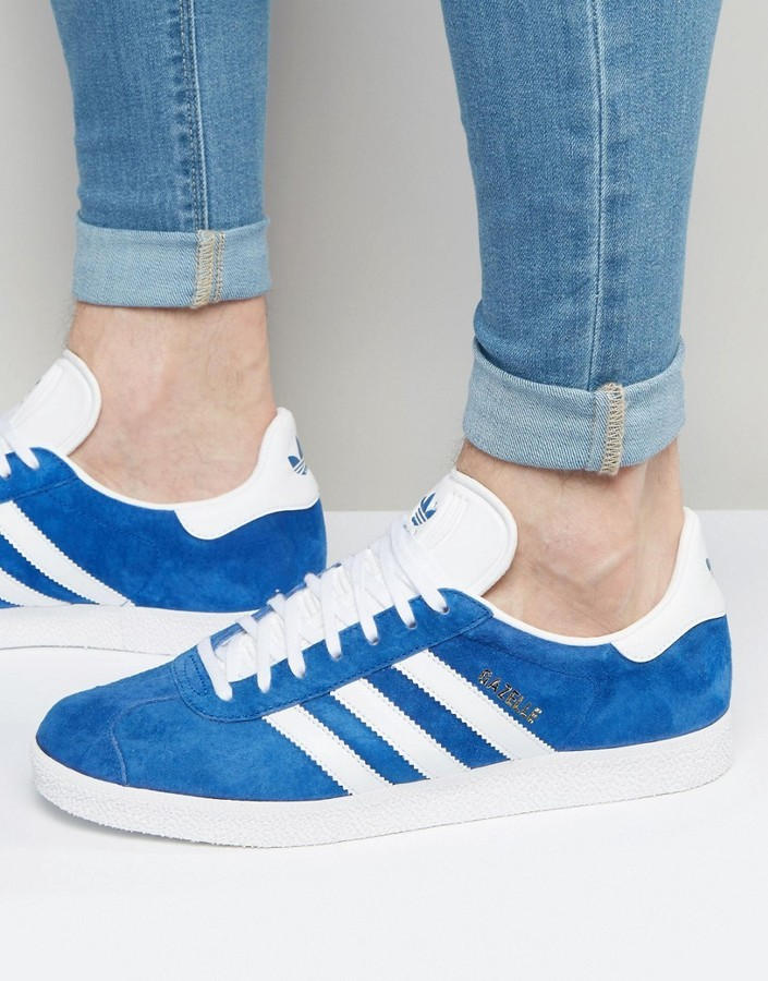 c58999f1607f2d ... adidas Originals Gazelle Sneakers In Blue S76227 ...