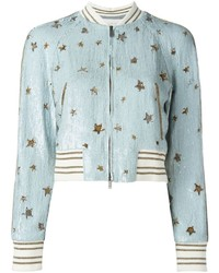 Valentino Star Sequinned Bomber Jacket