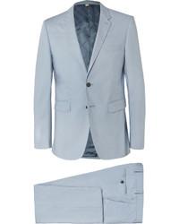 Burberry Blue Slim Fit Cotton Suit